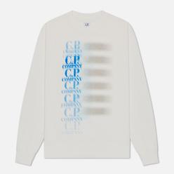 Мужская толстовка C.P. Company Fleece 30/1 Blur Logo Gauze White