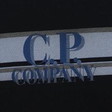 Мужская толстовка C.P. Company Fleece Crew Neck Logo Black фото- 2
