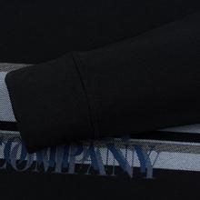 Мужская толстовка C.P. Company Fleece Crew Neck Logo Black фото- 3