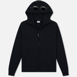 Мужская толстовка C.P. Company Fleece Goggle Zip Hoody Black фото- 0