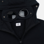 Мужская толстовка C.P. Company Fleece Goggle Zip Hoody Black фото- 3