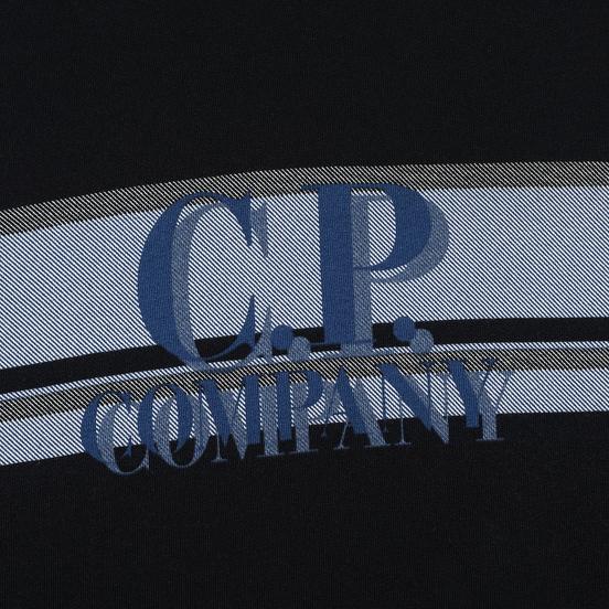 Мужская толстовка C.P. Company Fleece Hooded Logo Black
