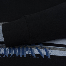 Мужская толстовка C.P. Company Fleece Hooded Logo Black фото- 3