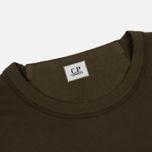 Мужская толстовка C.P. Company Front Mini Logo Dark Olive фото- 1