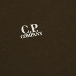 Мужская толстовка C.P. Company Front Mini Logo Dark Olive фото- 2