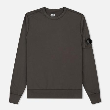 Мужская толстовка C.P. Company Garment Dyed Light Fleece Lens Crew Neck Dark Fog Grey