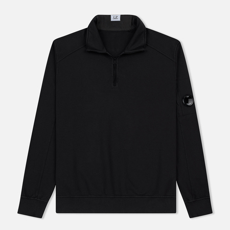 Мужская толстовка C.P. Company Garment Dyed Light Fleece Lens Zip Neck Black