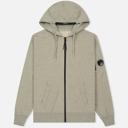 Мужская толстовка C.P. Company GD Light Fleece Lens Zip Hoodie Grey Melange