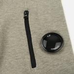 Мужская толстовка C.P. Company GD Light Fleece Lens Zip Hoodie Grey Melange фото- 4