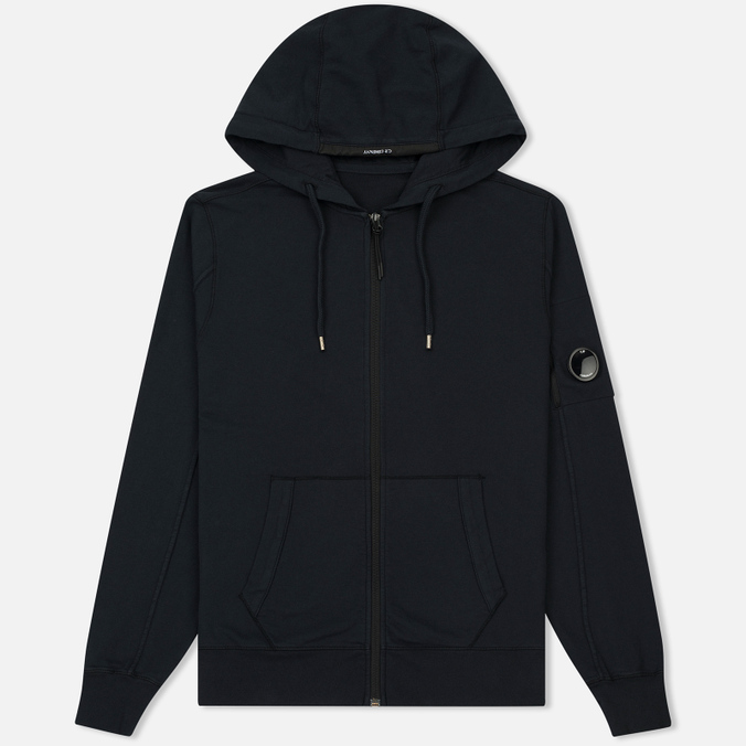 Мужская толстовка C.P. Company GD Light Fleece Lens Zip Hoodie Total Eclipse