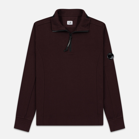 Мужская толстовка C.P. Company Half-Zip Lens Pocket Bitter Chocolate