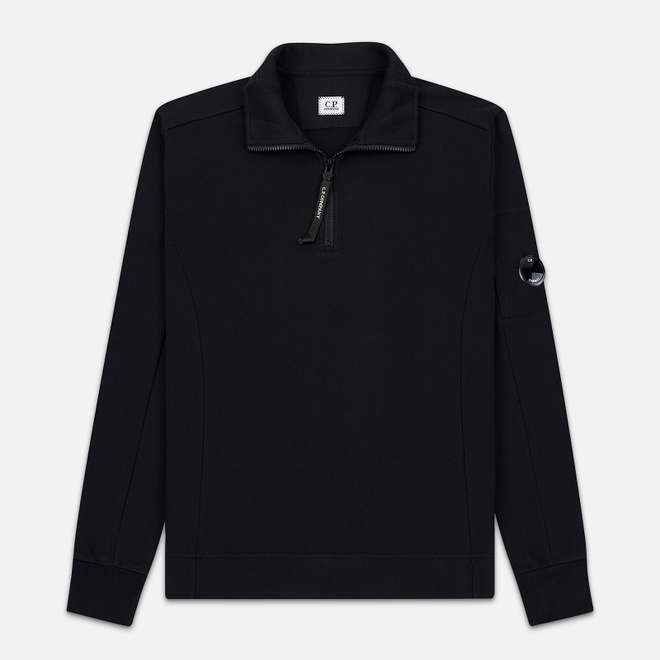 Мужская толстовка C.P. Company Half-Zip Lens Pocket Black