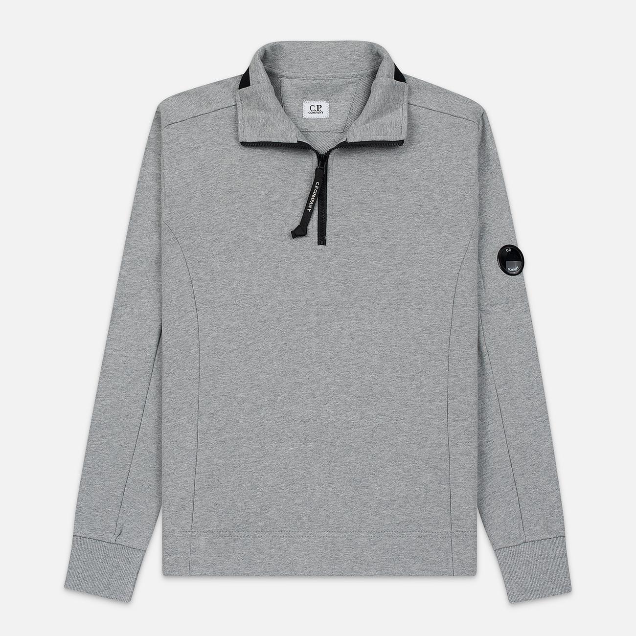 Мужская толстовка C.P. Company Half-Zip Lens Pocket Grey Melange