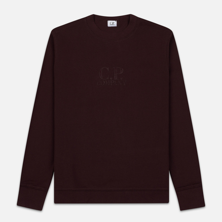 Мужская толстовка C.P. Company Heavyweight Logo Crew Neck Bitter Chocolate