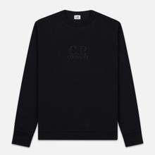 Мужская толстовка C.P. Company Heavyweight Logo Crew Neck Black фото- 0