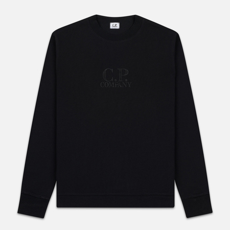 Мужская толстовка C.P. Company Heavyweight Logo Crew Neck Black