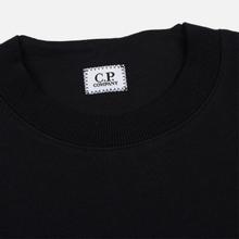 Мужская толстовка C.P. Company Heavyweight Logo Crew Neck Black фото- 1