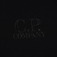 Мужская толстовка C.P. Company Heavyweight Logo Crew Neck Black фото- 2
