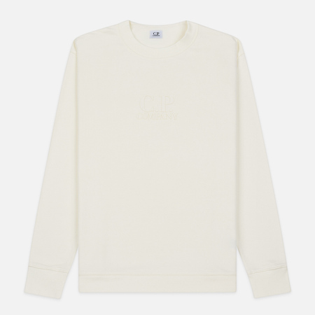 Мужская толстовка C.P. Company Heavyweight Logo Crew Neck Gauze White