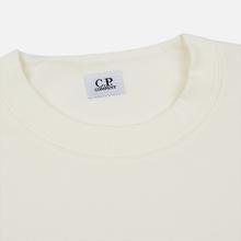 Мужская толстовка C.P. Company Heavyweight Logo Crew Neck Gauze White фото- 1