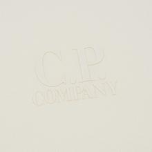 Мужская толстовка C.P. Company Heavyweight Logo Crew Neck Gauze White фото- 2