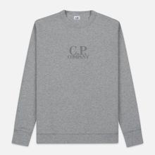 Мужская толстовка C.P. Company Heavyweight Logo Crew Neck Grey Melange фото- 0