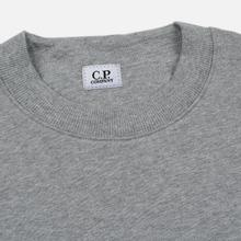 Мужская толстовка C.P. Company Heavyweight Logo Crew Neck Grey Melange фото- 1