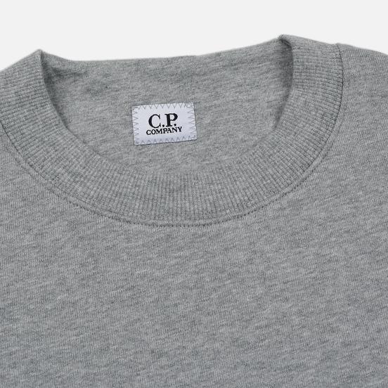 Мужская толстовка C.P. Company Heavyweight Logo Crew Neck Grey Melange