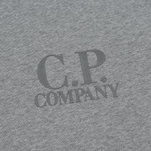 Мужская толстовка C.P. Company Heavyweight Logo Crew Neck Grey Melange фото- 2