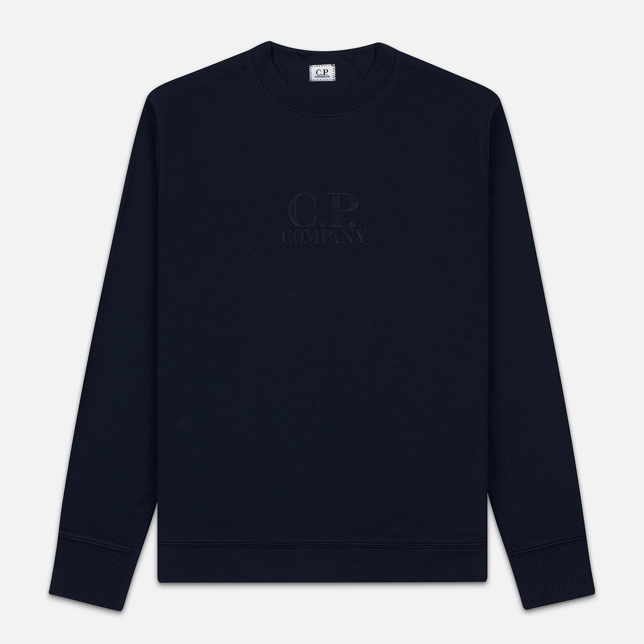 Мужская толстовка C.P. Company Heavyweight Logo Crew Neck Total Eclipse