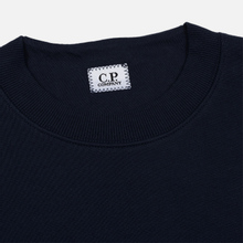 Мужская толстовка C.P. Company Heavyweight Logo Crew Neck Total Eclipse фото- 1