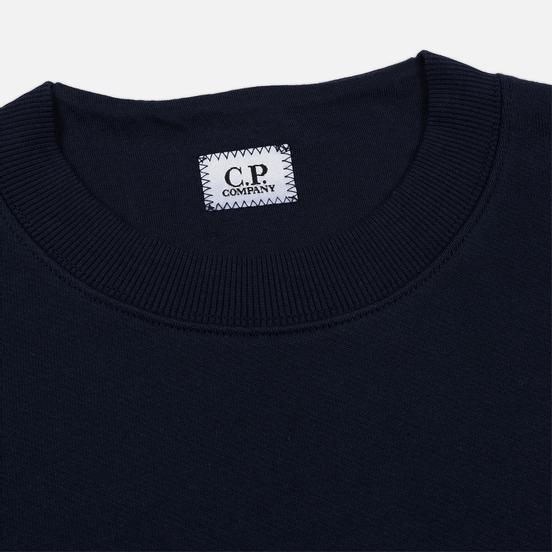 Мужская толстовка C.P. Company Heavyweight Logo Crew Neck Total Eclipse