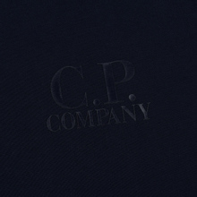 Мужская толстовка C.P. Company Heavyweight Logo Crew Neck Total Eclipse фото- 2