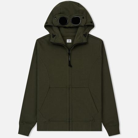 Мужская толстовка C.P. Company Hoodie Diagonal Fleece Goggle Dark Olive