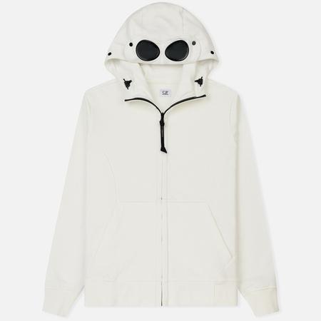 Мужская толстовка C.P. Company Hoodie Diagonal Fleece Goggle Tapioca White