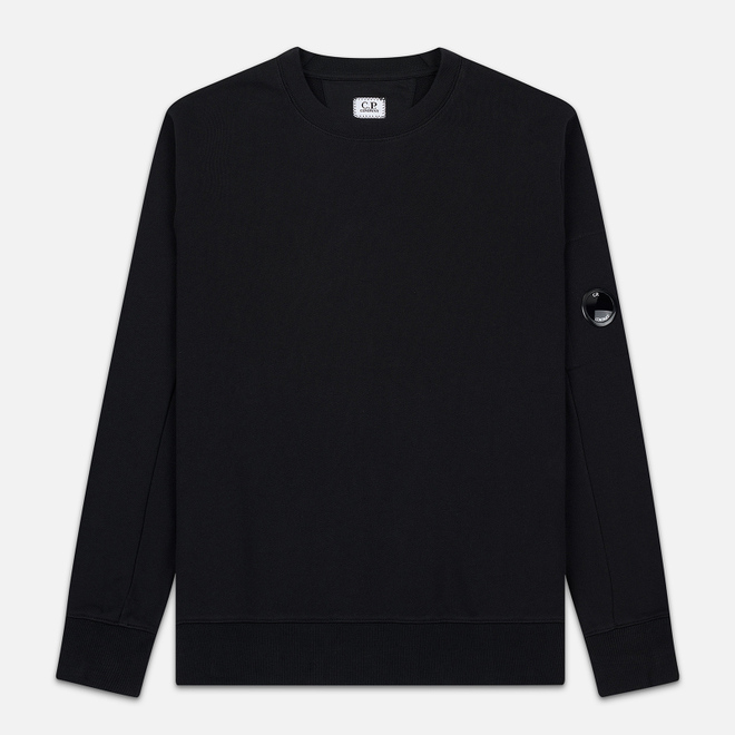 Мужская толстовка C.P. Company Light Fleece Arm Lens Crew Neck Black