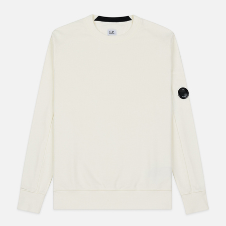 Мужская толстовка C.P. Company Light Fleece Arm Lens Crew Neck Gauze White