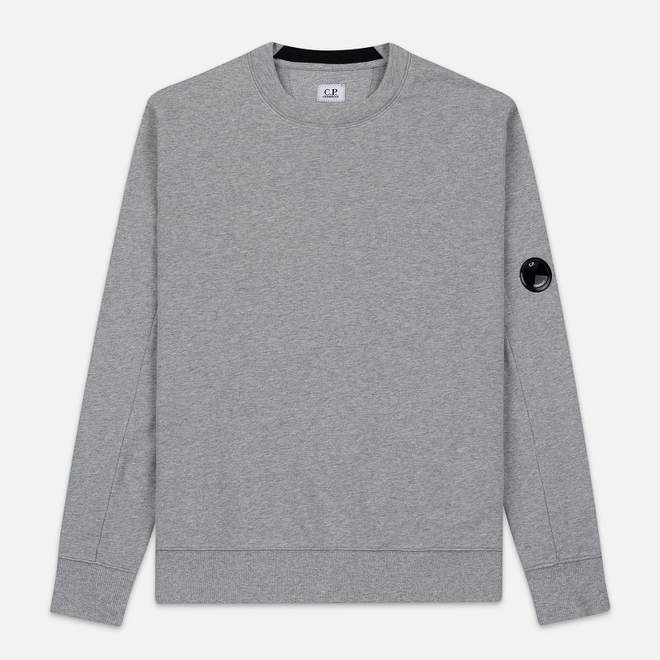 Мужская толстовка C.P. Company Light Fleece Arm Lens Crew Neck Grey Melange