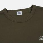 Мужская толстовка C.P. Company Print Logo Crew Neck Dark Olive фото- 1