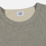 Мужская толстовка C.P. Company Print Logo Crew Neck Grey Melange фото- 1