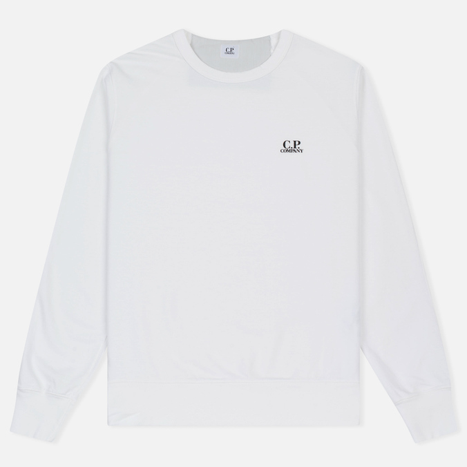 Мужская толстовка C.P. Company Print Logo Crew Neck Optic White