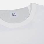 Мужская толстовка C.P. Company Print Logo Crew Neck Optic White фото- 1