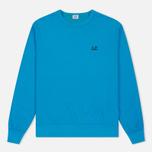 Мужская толстовка C.P. Company Print Logo Crew Neck Turquoise фото- 0