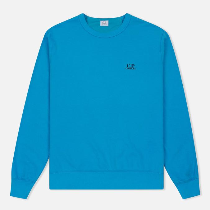 Мужская толстовка C.P. Company Print Logo Crew Neck Turquoise