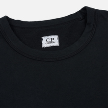Мужская толстовка C.P. Company Straight Logo Crew Neck Black фото- 1