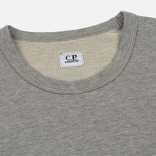 Мужская толстовка C.P. Company Straight Logo Crew Neck Grey Melange фото- 1