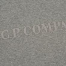 Мужская толстовка C.P. Company Straight Logo Crew Neck Grey Melange фото- 2