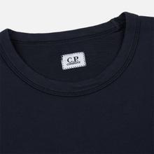 Мужская толстовка C.P. Company Straight Logo Crew Neck Total Eclipse фото- 1