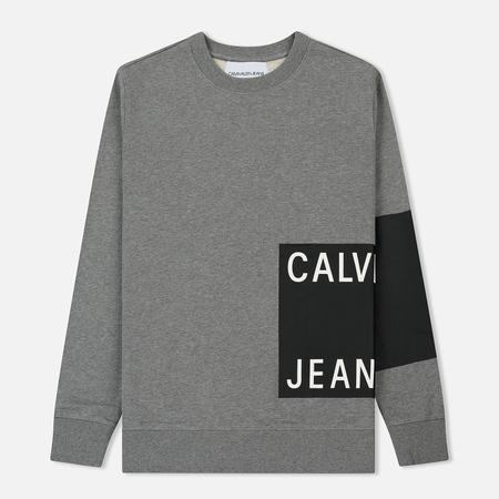 Мужская толстовка Calvin Klein Jeans Block Print Logo Grey