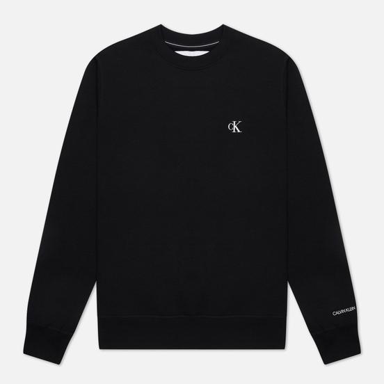 Мужская толстовка Calvin Klein Jeans Embroidered Logo Black